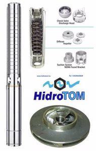 Kép Hidrotom SP1812 77m-5m3 magas homoktűrésű rozsdamentes járókerekekkel szerelt mélykút búvárszivattyú 750W 230V