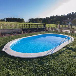 Kép SUMATRA medence SET 800 x 400 x 120 cm vízforgató- homokszűrő-létra geotextilia