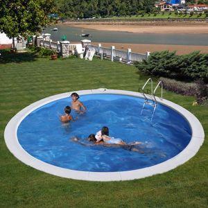 Kép MOOREA  medence SET Ø 420 x 150 cm vízforgató- homokszűrő-létra geotextil