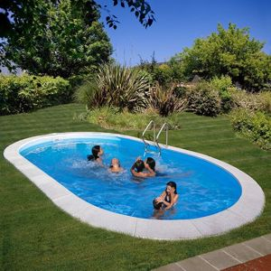Kép MOOREA  medence SET 800 x 400 x 150 cm vízforgató- homokszűrő-létra geotextil