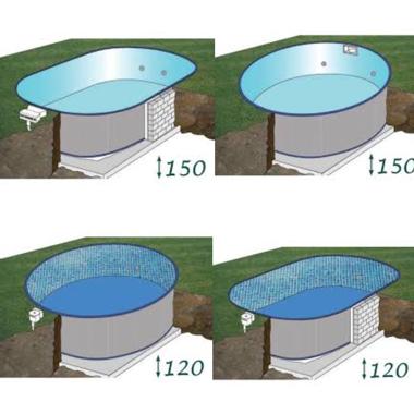 Kép a kategóriának Süllyesztett  medencék fóliával   ( ár nem tartalmaz víz forgató, létra és egyéb kiegészítőket )